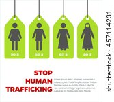 anti human trafficking campaign ... | Shutterstock .eps vector #457114231