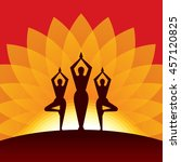 vector yoga   spa icons and... | Shutterstock .eps vector #457120825
