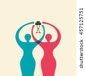 power of women  creative concept | Shutterstock .eps vector #457125751