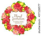 vintage delicate invitation...   Shutterstock .eps vector #457128577