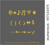 alphabet   number   handwriting ... | Shutterstock .eps vector #457131475