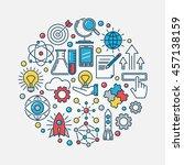 innovation round flat... | Shutterstock .eps vector #457138159