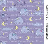 seamless pattern with cute... | Shutterstock .eps vector #457138891