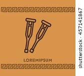 web line icon. crutches | Shutterstock .eps vector #457141867