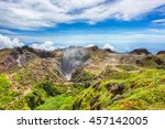 steam rising from the crater la ... | Shutterstock . vector #457142005