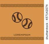 web line icon. baseball | Shutterstock .eps vector #457142074