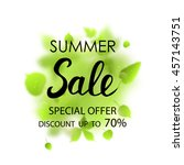 summer sale placard template on ... | Shutterstock .eps vector #457143751