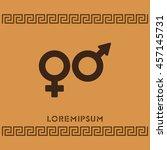 web line icon. gender symbol ... | Shutterstock .eps vector #457145731