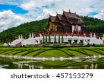 ho kham luang pavilion at royal ... | Shutterstock . vector #457153279