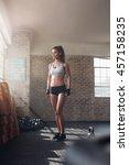 full length shot of strong... | Shutterstock . vector #457158235