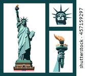 Statue Of Liberty Usa. Art. Ne...