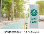 bike lane in city street on... | Shutterstock . vector #457160611