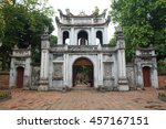 the main entrance gate at the...   Shutterstock . vector #457167151