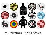Big Set Of Targets Isolated...