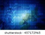 digital world map  ... | Shutterstock . vector #457172965