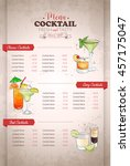 drawing vertical color cocktail ... | Shutterstock .eps vector #457175047