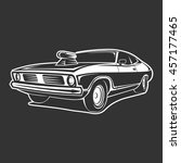 muscle car vector art poster t... | Shutterstock .eps vector #457177465
