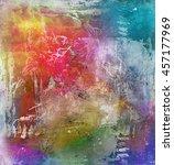 abstract rainbow multicolor... | Shutterstock . vector #457177969