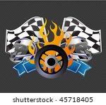 racing sign | Shutterstock .eps vector #45718405
