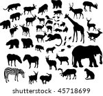 illustration with large animal... | Shutterstock . vector #45718699
