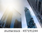 panoramic and perspective wide... | Shutterstock . vector #457191244