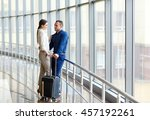 couple in love on vacation.... | Shutterstock . vector #457192261