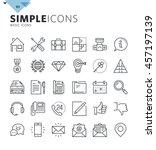 modern thin line basic web... | Shutterstock .eps vector #457197139