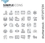 modern thin line icons of hotel ... | Shutterstock .eps vector #457197154