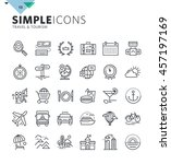 modern thin line icons of... | Shutterstock .eps vector #457197169