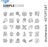 modern thin line icons of... | Shutterstock .eps vector #457197187
