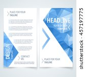 vector design template of flyer ... | Shutterstock .eps vector #457197775