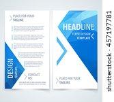 vector design template of flyer ... | Shutterstock .eps vector #457197781