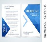 vector design template of flyer ... | Shutterstock .eps vector #457197811