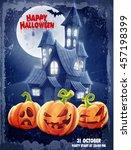 halloween banner vintage | Shutterstock .eps vector #457198399