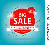 super sale paper banner. sale... | Shutterstock .eps vector #457198699