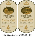 label for olive oil made in... | Shutterstock .eps vector #457202191