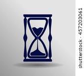 blue hourglass icon button logo ...