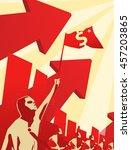 capitalism in propaganda style | Shutterstock .eps vector #457203865