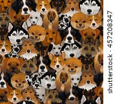 Vector Dogs Different Breeds...