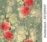 imprints sakura and... | Shutterstock . vector #457209547