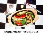baked caramel vegitables   Shutterstock . vector #457213915