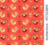 scandinavian style.seamless... | Shutterstock .eps vector #457223845