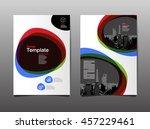 template design  layout ... | Shutterstock .eps vector #457229461