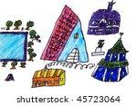child s picture. village | Shutterstock . vector #45723064