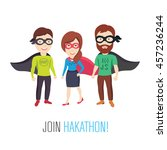 join programming hackathon | Shutterstock .eps vector #457236244