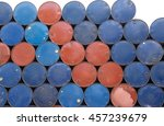 used chemical steel from  old... | Shutterstock . vector #457239679