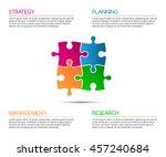 minimalistic infographic... | Shutterstock .eps vector #457240684
