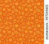 halloween seamless pattern with ...   Shutterstock .eps vector #457245601