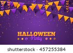halloween carnival background... | Shutterstock .eps vector #457255384
