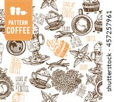 Pattern Coffee. Vector...